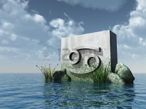 8403025-stone-monument-asterisk-cancer-symbol-at-water--3d-illustration[1]