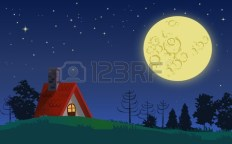 35568229-country-cottage-in-full-moon-starry-night-landscape