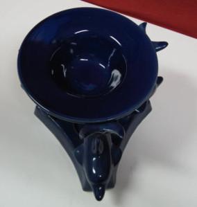 dolphin ceramic blue oil burner2