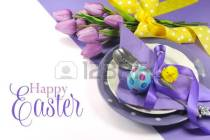 25964135-happy-easter-yellow-and-purple-mauve-lilac-theme-easter-table-place-setting-with-sample-greeting-or-[1]